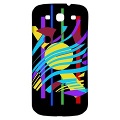 Colorful abstract art Samsung Galaxy S3 S III Classic Hardshell Back Case