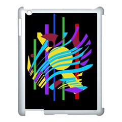 Colorful abstract art Apple iPad 3/4 Case (White)