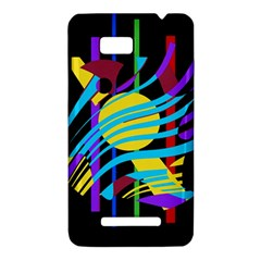 Colorful abstract art HTC One SU T528W Hardshell Case