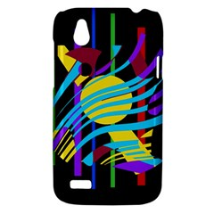 Colorful abstract art HTC Desire V (T328W) Hardshell Case