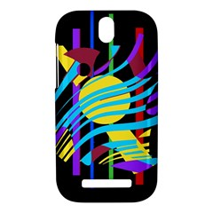 Colorful abstract art HTC One SV Hardshell Case