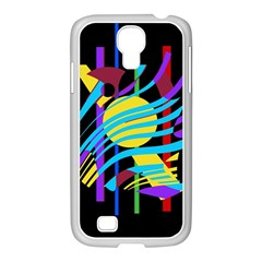 Colorful abstract art Samsung GALAXY S4 I9500/ I9505 Case (White)