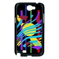 Colorful abstract art Samsung Galaxy Note 2 Case (Black)