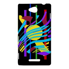 Colorful abstract art Sony Xperia C (S39H)