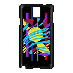 Colorful abstract art Samsung Galaxy Note 3 N9005 Case (Black)