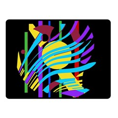 Colorful abstract art Double Sided Fleece Blanket (Small)