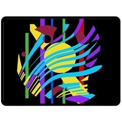 Colorful abstract art Double Sided Fleece Blanket (Large)
