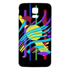 Colorful abstract art Samsung Galaxy S5 Back Case (White)