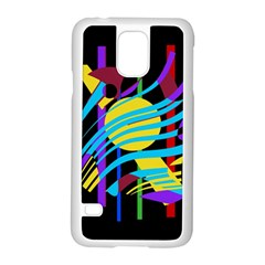 Colorful abstract art Samsung Galaxy S5 Case (White)