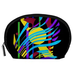 Colorful abstract art Accessory Pouches (Large)