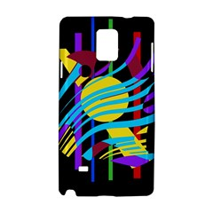 Colorful abstract art Samsung Galaxy Note 4 Hardshell Case