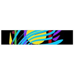 Colorful abstract art Flano Scarf (Small)