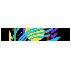 Colorful abstract art Flano Scarf (Large)