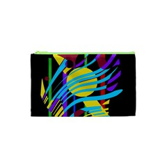 Colorful abstract art Cosmetic Bag (XS)
