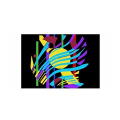Colorful abstract art Satin Wrap