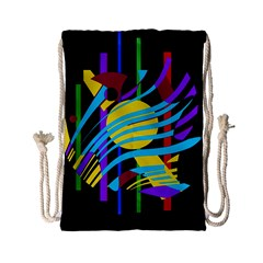 Colorful abstract art Drawstring Bag (Small)