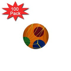Orange abstraction 1  Mini Magnets (100 pack)