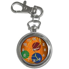 Orange abstraction Key Chain Watches