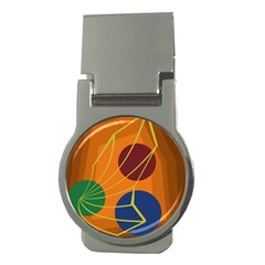 Orange abstraction Money Clips (Round)