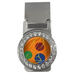 Orange abstraction Money Clips (CZ)