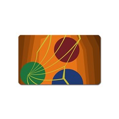 Orange abstraction Magnet (Name Card)