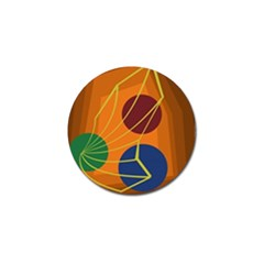 Orange abstraction Golf Ball Marker (4 pack)