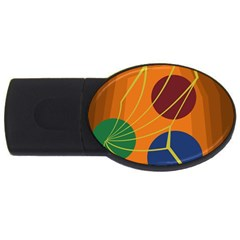 Orange abstraction USB Flash Drive Oval (1 GB)