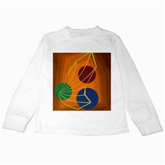 Orange abstraction Kids Long Sleeve T-Shirts