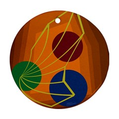 Orange abstraction Round Ornament (Two Sides)