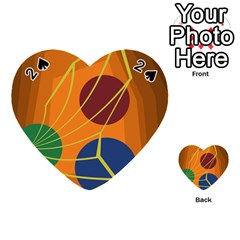 Orange abstraction Playing Cards 54 (Heart)
