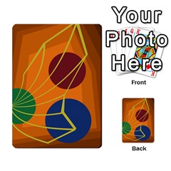 Orange abstraction Multi-purpose Cards (Rectangle)