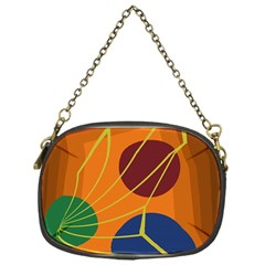 Orange abstraction Chain Purses (One Side)