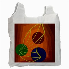 Orange abstraction Recycle Bag (One Side)