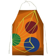 Orange abstraction Full Print Aprons