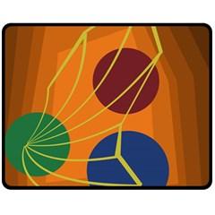 Orange abstraction Fleece Blanket (Medium)