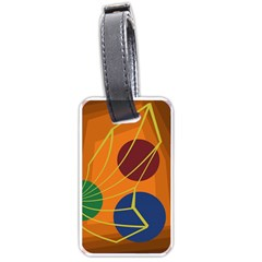 Orange abstraction Luggage Tags (Two Sides)