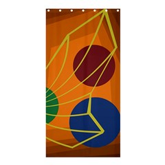 Orange abstraction Shower Curtain 36  x 72  (Stall)