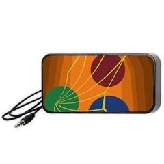 Orange abstraction Portable Speaker (Black)