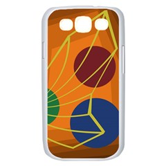 Orange abstraction Samsung Galaxy S III Case (White)