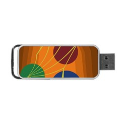 Orange abstraction Portable USB Flash (Two Sides)