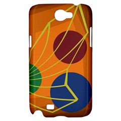 Orange abstraction Samsung Galaxy Note 2 Hardshell Case