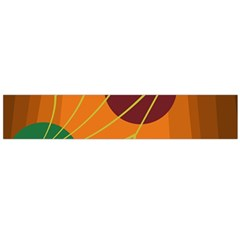 Orange abstraction Flano Scarf (Large)