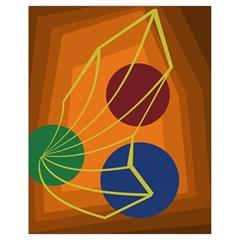 Orange abstraction Drawstring Bag (Small)