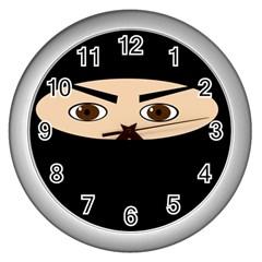 Ninja Wall Clocks (Silver)