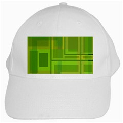 Green pattern White Cap