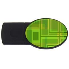Green pattern USB Flash Drive Oval (1 GB)