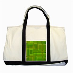Green pattern Two Tone Tote Bag