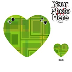 Green pattern Playing Cards 54 (Heart)