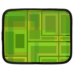 Green pattern Netbook Case (Large)