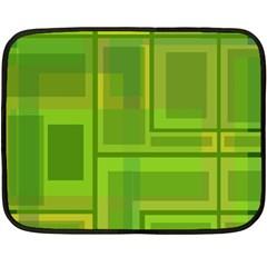 Green pattern Double Sided Fleece Blanket (Mini)
